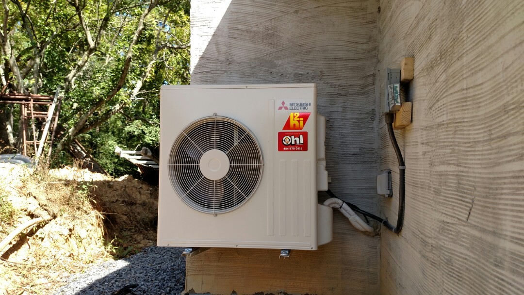 Hellertown, PA - A Mitsubishi heat pump installed in under renovation project, hellertown,pa