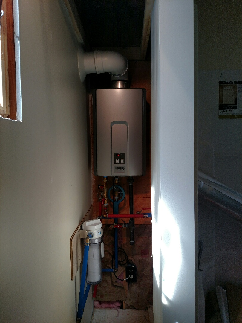 Coplay, PA - Rinnai tank less installed in hellertown,pa.