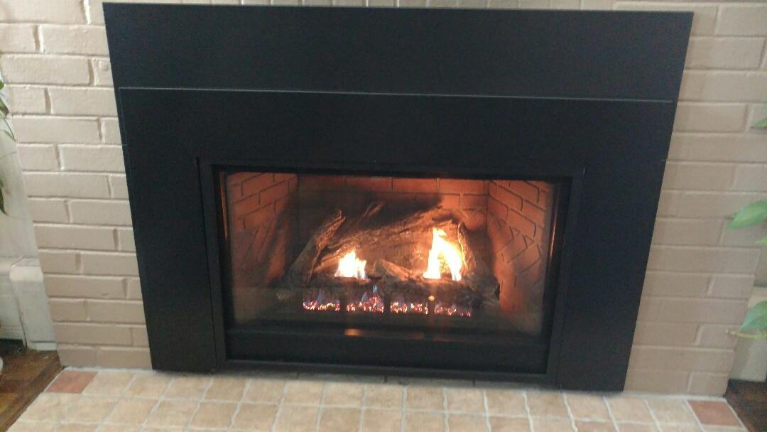 Tamaqua, PA - Installed propane fireplace in Tamaqua