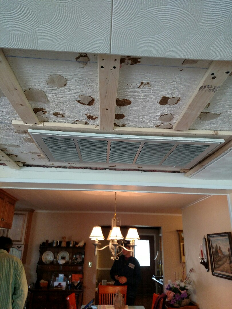 New Tripoli, PA - HVAC dropping a return grill to match a new ceiling