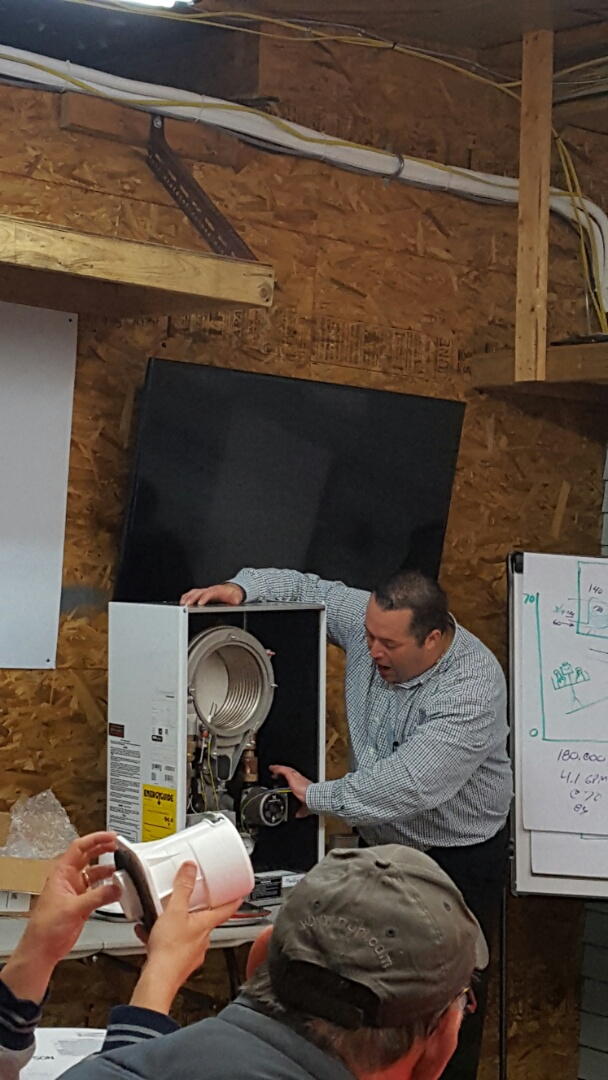 Lehighton, PA - Weil McLain boiler training at R.F. Ohl today. Talking heating and cooling