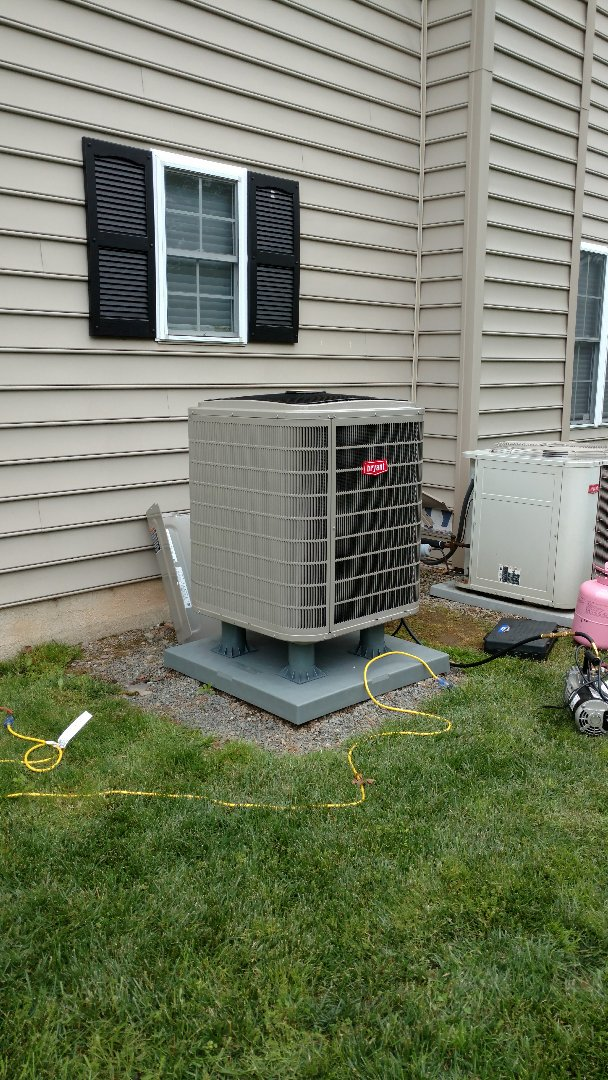 Sciota, PA - Installing a new Bryant central heat pump system in Sciota