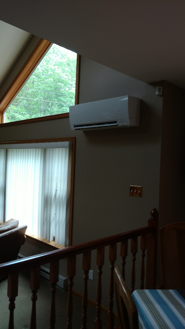 Albrightsville, PA - Installed a Mitsubishi Ductless heatpump system in Albrightsville