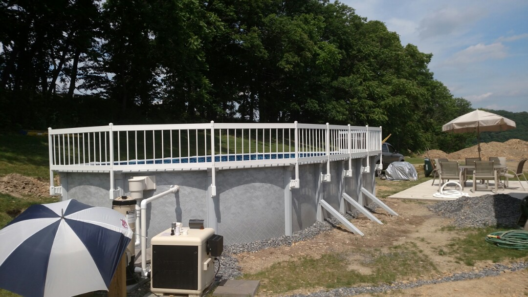 Walnutport, PA - Setting a propane tank for heating and cooling