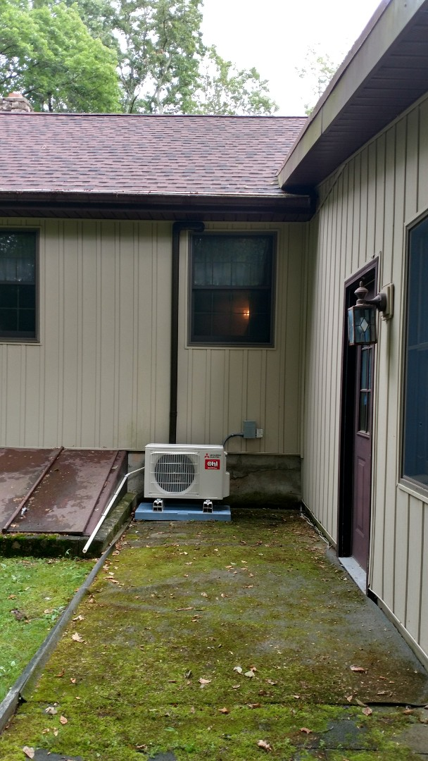Albrightsville, PA - Two Mitsubishi heat pump system installed in saylorsburg PA