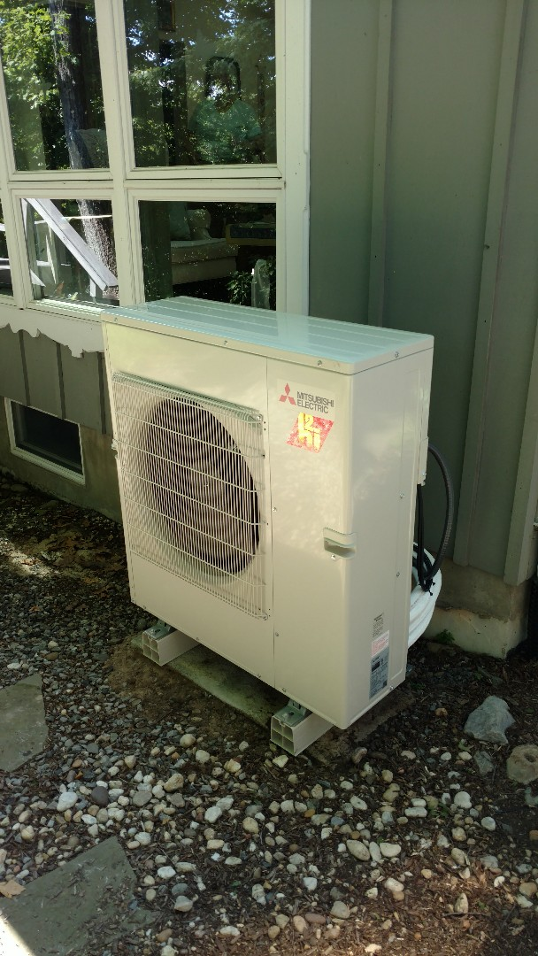 Mount Bethel, PA - Installed a Mitsubishi Ductless heatpump system in Mount Bethel