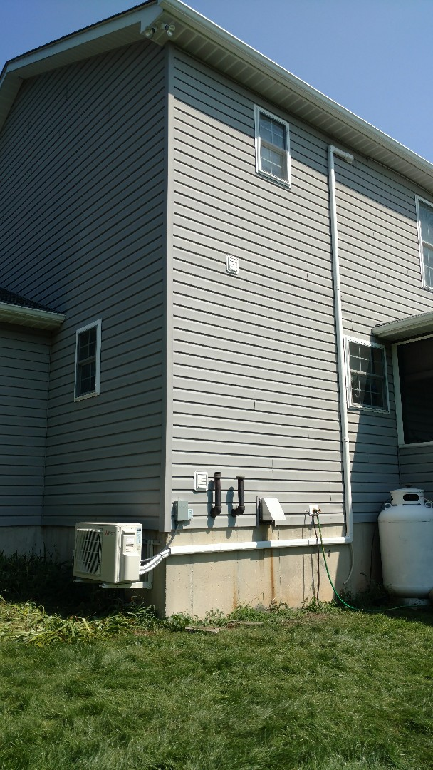 Palmerton, PA - Installed a Mitsubishi ductless heatpump system in Palmerton