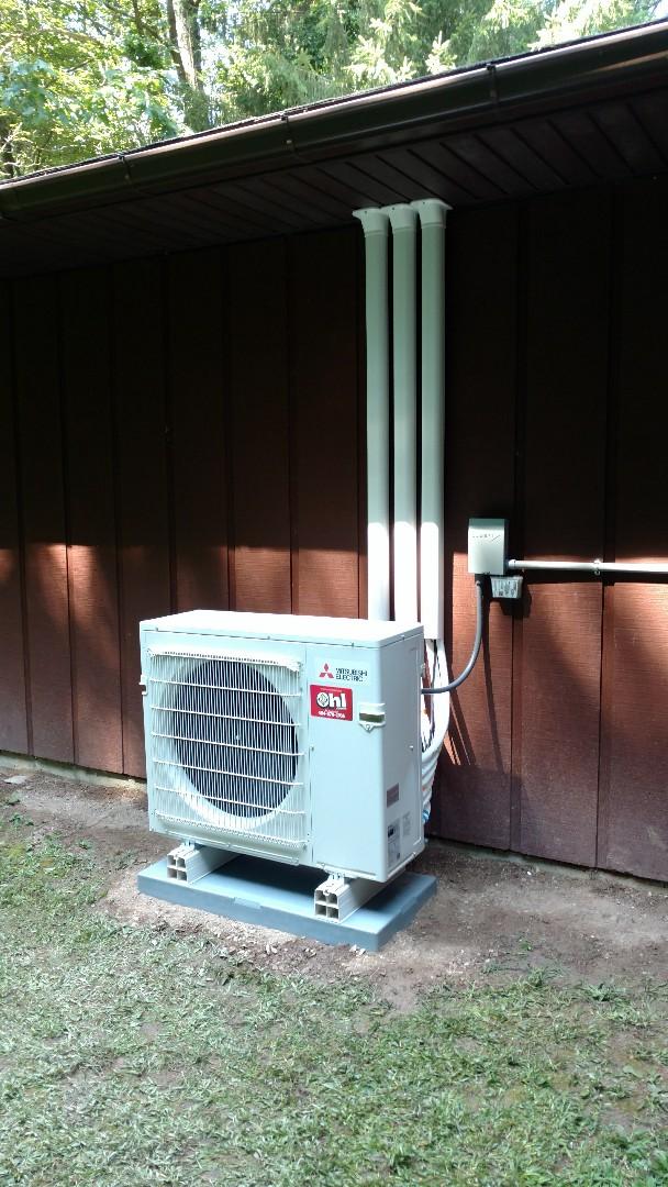 Lehighton, PA - Installed a Tri-zone Mitsubishi Ductless heatpump system in Lehighton