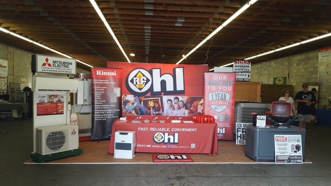 Gilbert, PA - West End Fair in Gilbert, PA. Talking about heating and cooling options