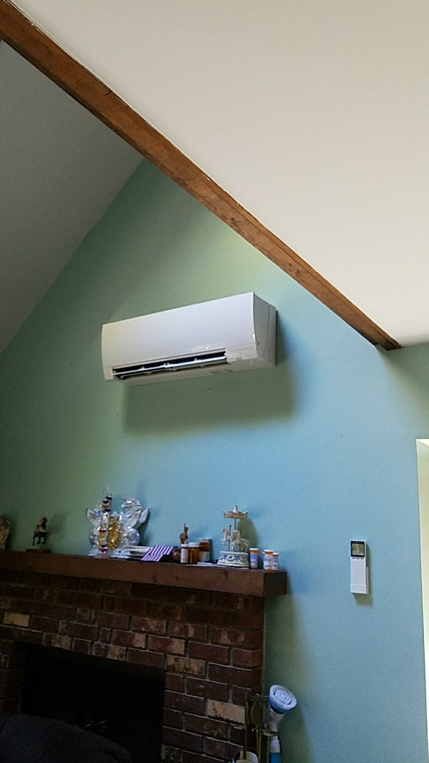 East Stroudsburg, PA - Two ductless Mitsubishi heat pumps maintenance performed