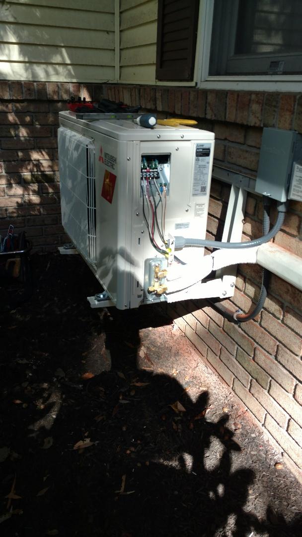 Bath, PA - Installing a new Mitsubishi hyperheat system in Bath