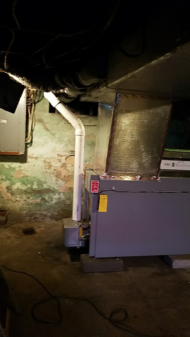Gilbert, PA - Aiello oil burner replacement and air intake vent added to system.