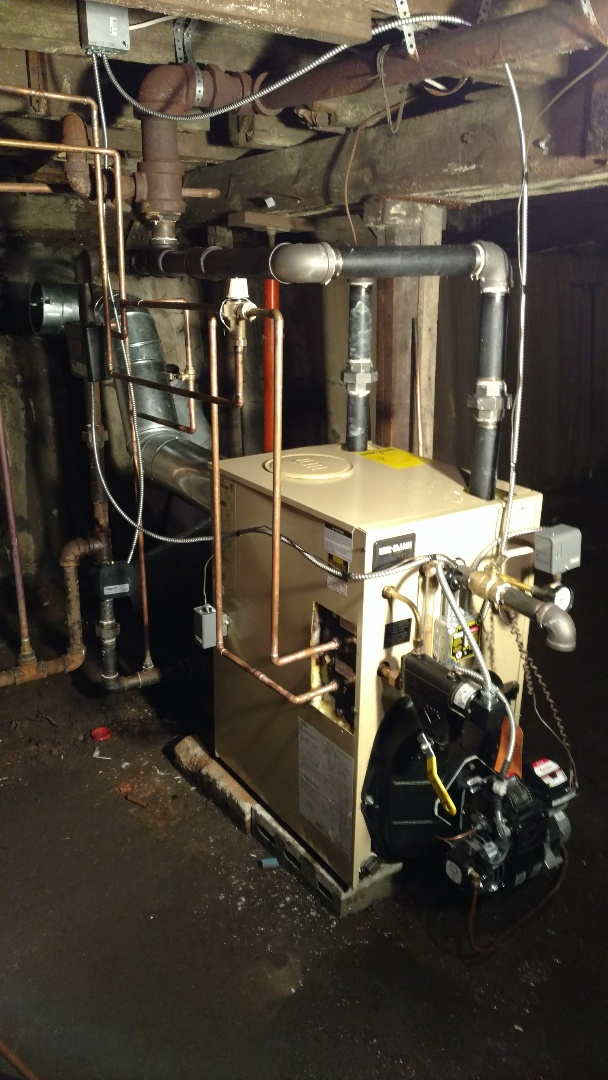Weatherly, PA - New Weil McLain steam boiler installed.