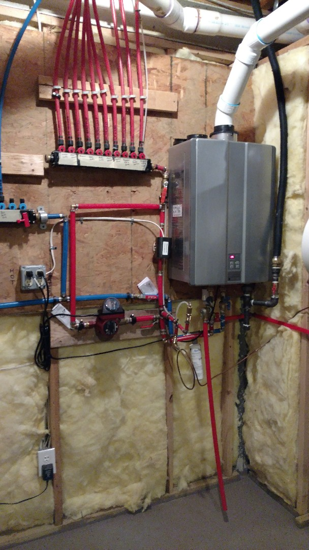 Macungie, PA - Installed a new propane Rinnai tankless water heater in Macungie