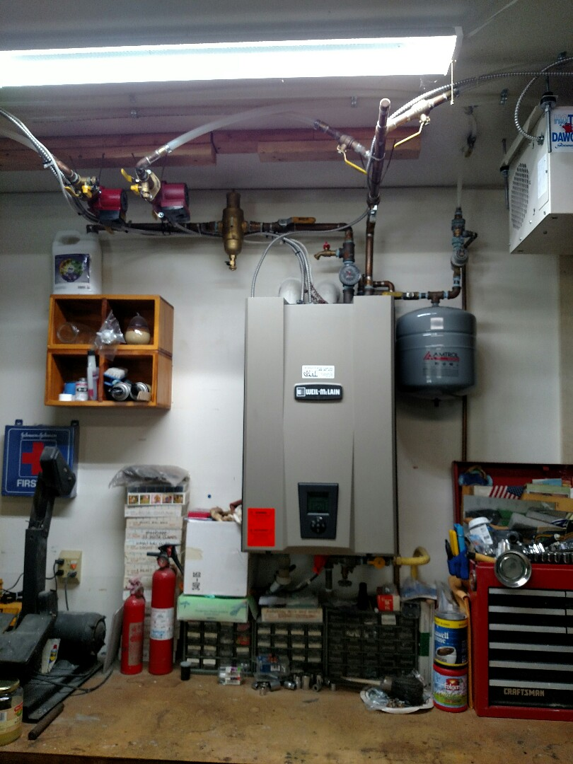 Whitehall, PA - Preformed yearly lp boiler tune up on Weil McLain wall hung boiler