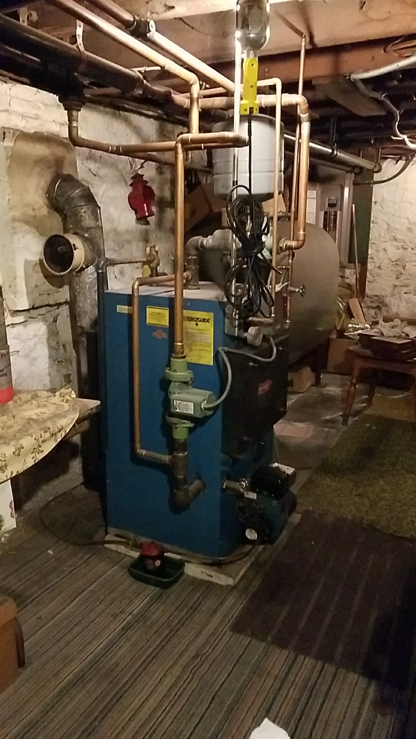Catasauqua, PA - Oil burner boiler annually maintenance performed