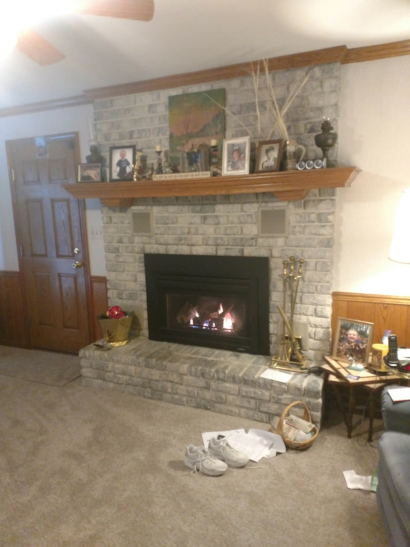 Lehighton, PA - Helping a customer with her propane fireplace.