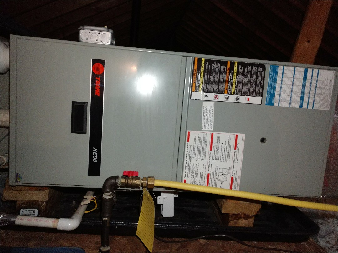 Pocono Pines, PA - This little furnace up in Pocono Pines caught a cold! She's all better now!