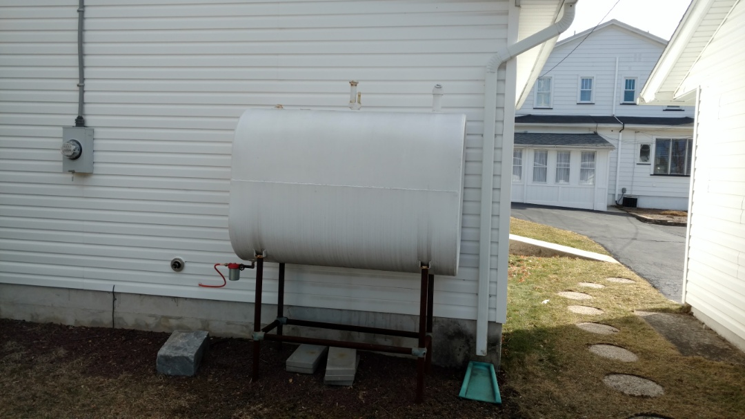 Lehighton, PA - Time for a new oil tank.