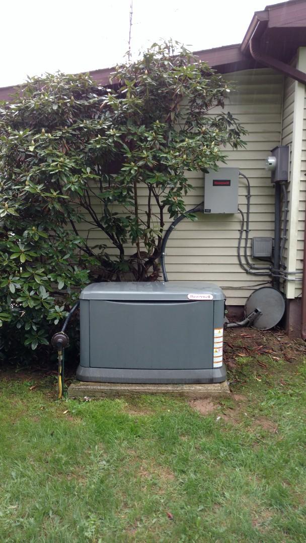 Lehighton, PA - Installed a propane generator in Lehighton
