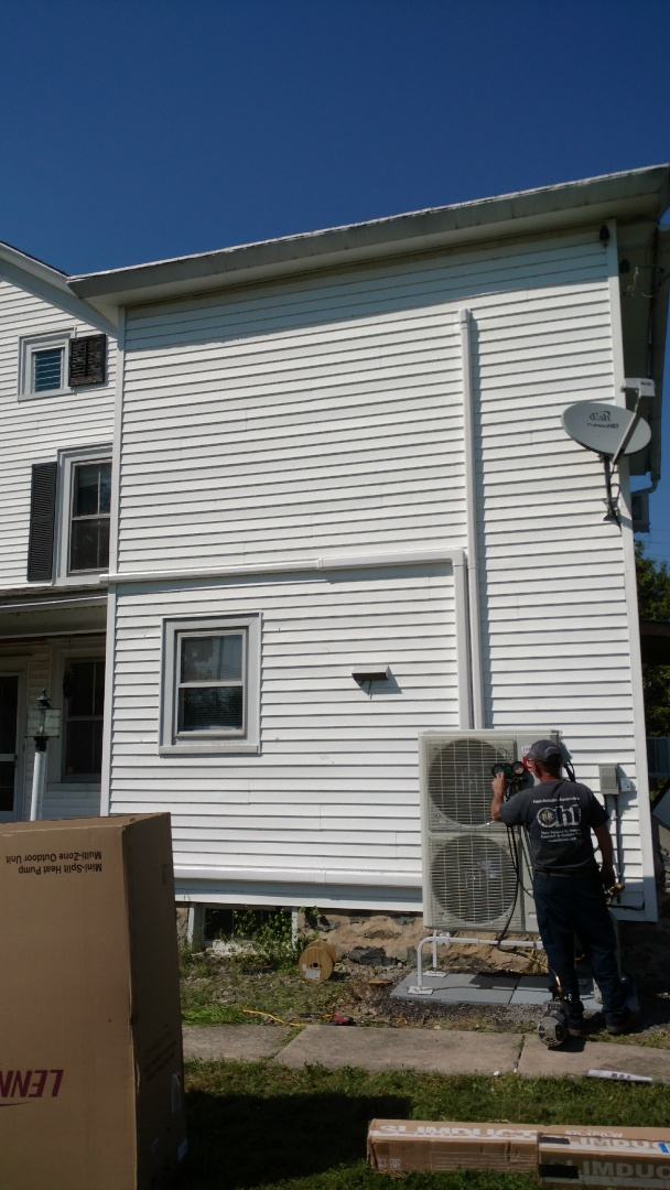 Mount Bethel, PA - Installed a new Lennox Ductless heatpump system in Mt Bethel