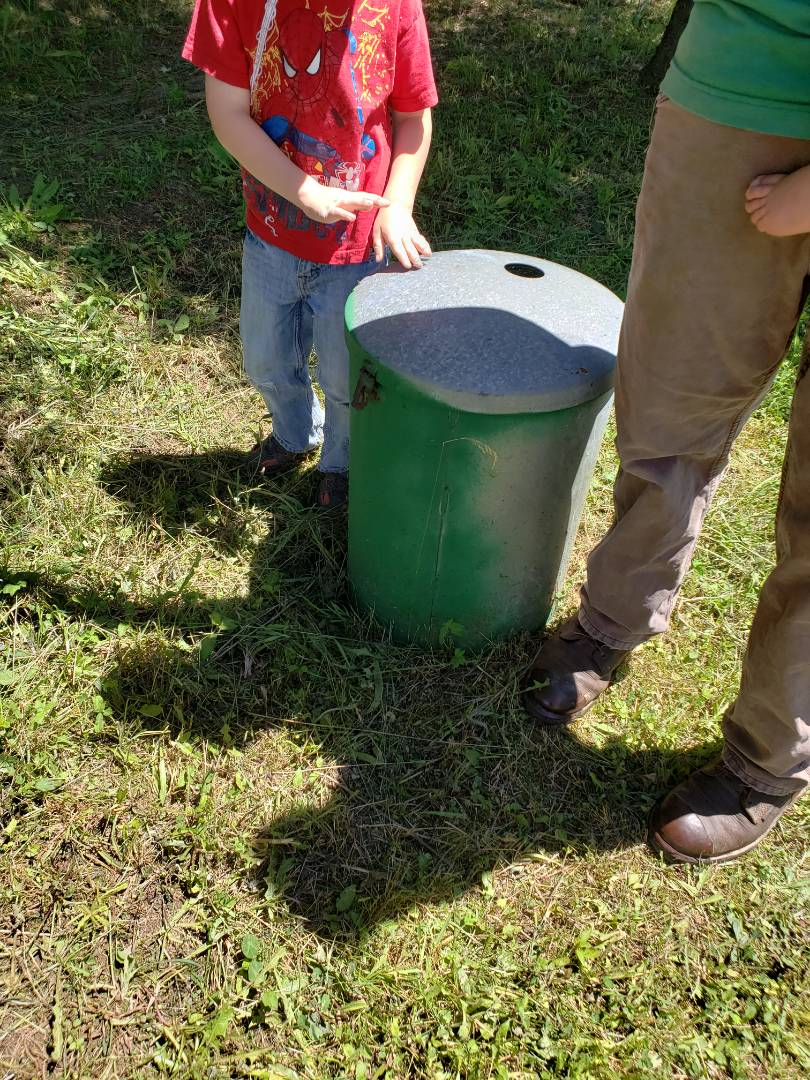 Lehighton, PA - Setting a propane tank for heating and cooling