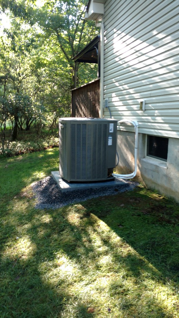 Jim Thorpe, PA - Installing a new Lennox Heat Pump system in Albrightsville