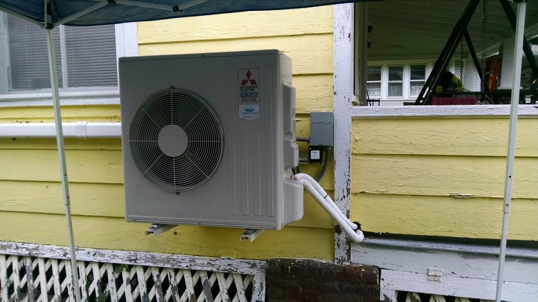 Brodheadsville, PA - Servicing a Mitsubishi ductless heat pump near broadheadsville