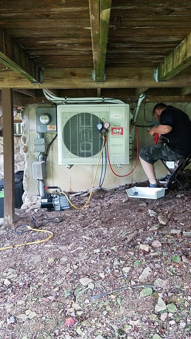 Lehighton, PA - Installing ductless system