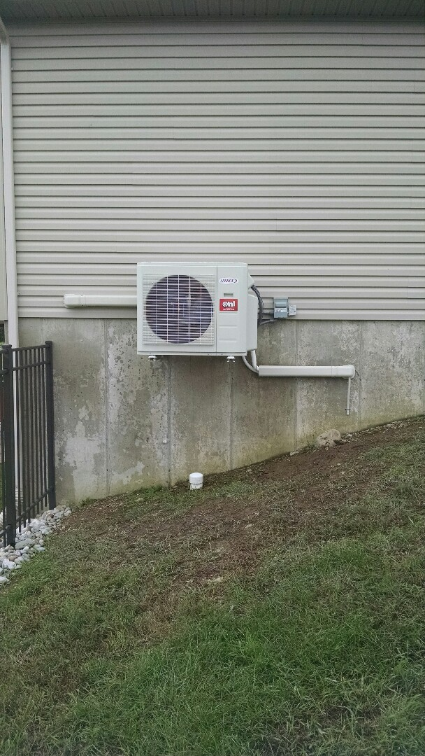 Bangor, PA - Installation of a Lennox ductless heat pump near Bangor.