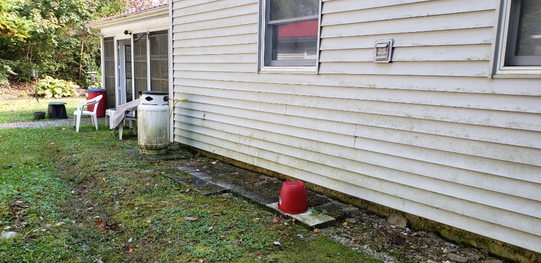 Danielsville, PA - Setting a propane tank for a generator