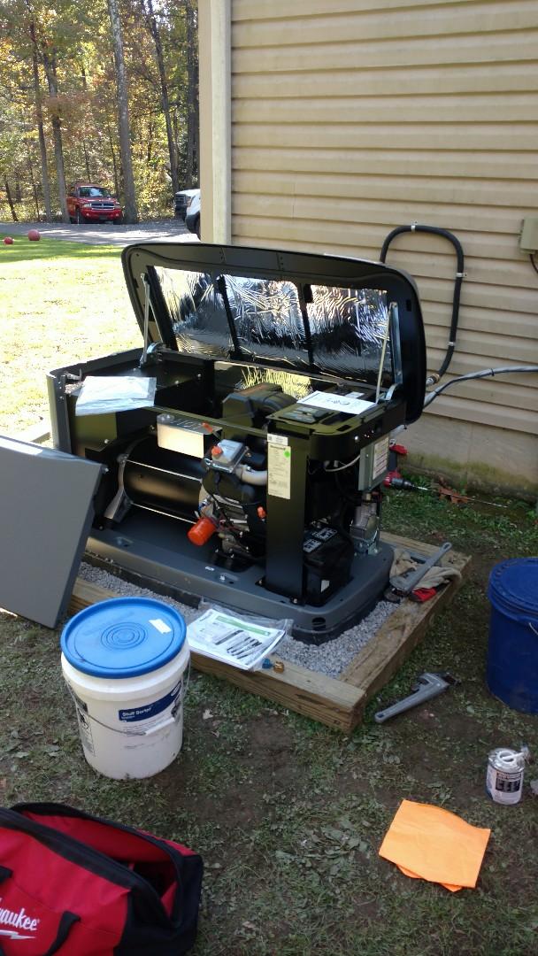 Danielsville, PA - Installing a new propane generator in Danielsville