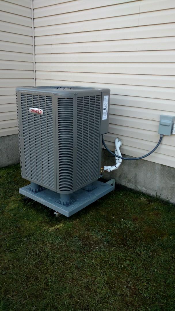 Blakeslee, PA - Installing a Lennox out door temperature sensor in Blakeslee