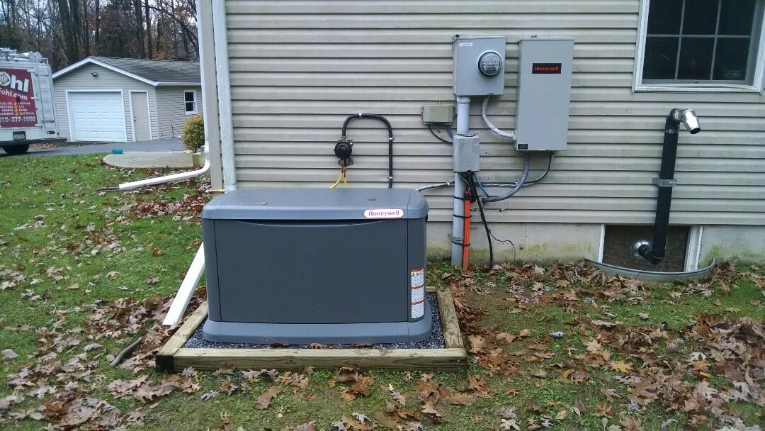 Danielsville, PA - Servicing a Honeywell generator near danielsville