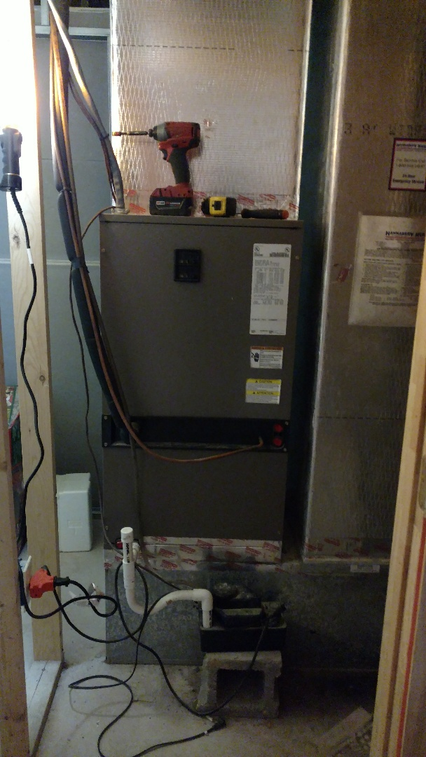 Mount Pocono, PA - Changing out a heatpump system in Mt. Pocono