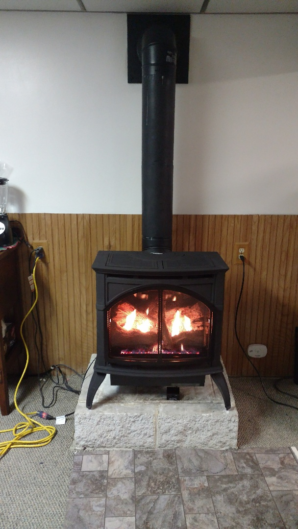 Lehighton, PA - Installed a new propane fireplace in Leighton