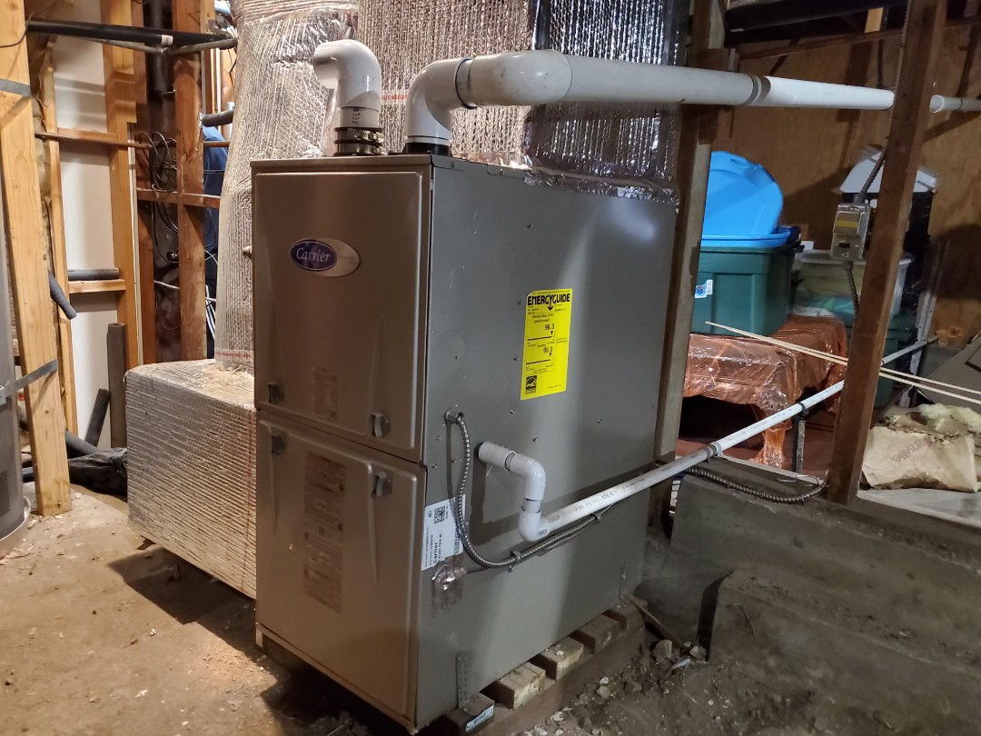 Oakland, CA - Down sizing furnace to High Efficiency Carrier 96%
