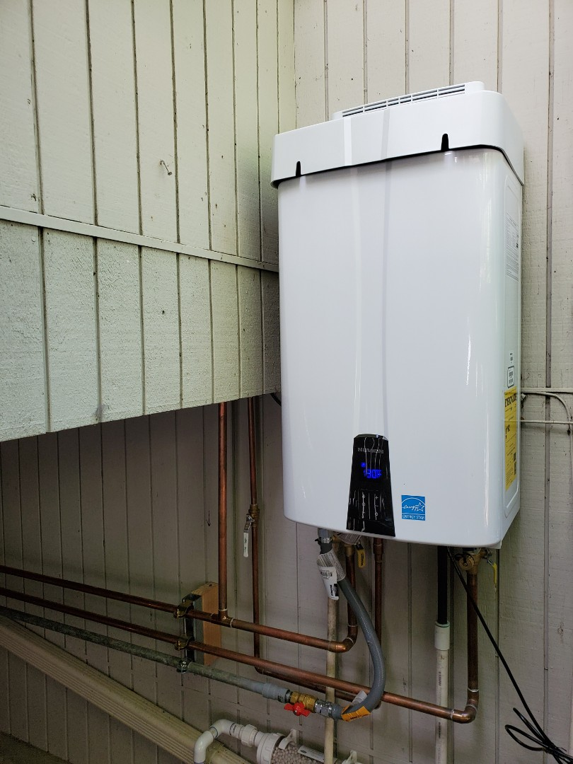 Orinda, CA - Tankless water heater and 97% efficiency furnace and 17 SEER air conditioner