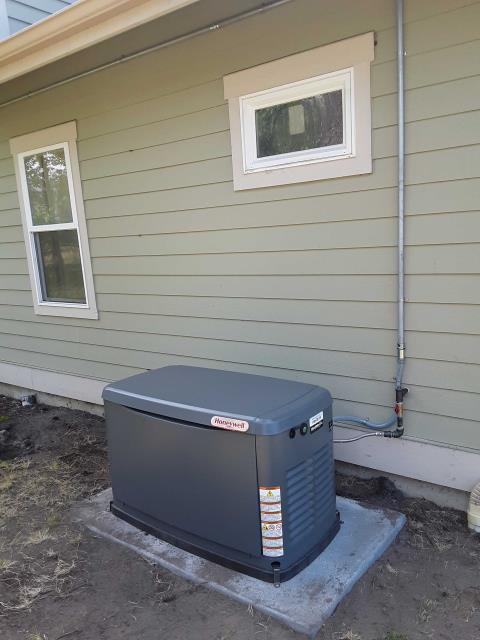Blaine, WA - In Blaine, WA, proposing a generator installation for a family.