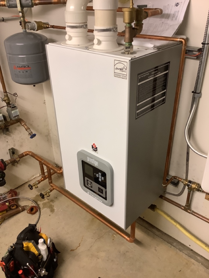 Eastsound, WA - Performed diagnostic on high efficiency boiler. Orcas Island, WA