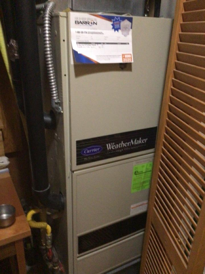 La Conner, WA - Performed furnace maintenance. La Conner, WA