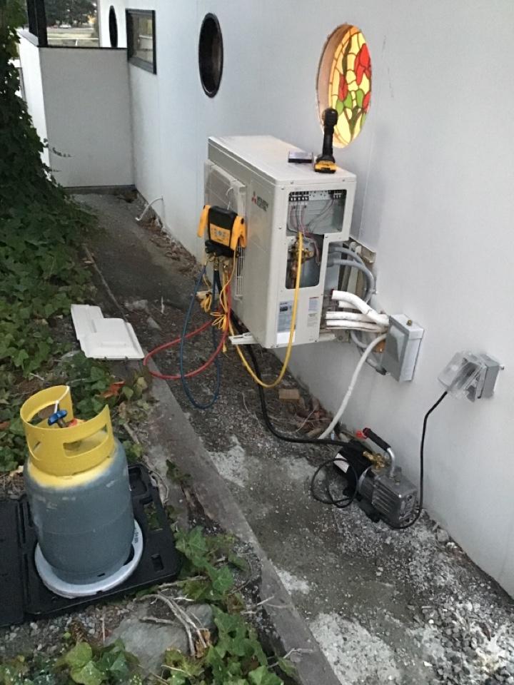 La Conner, WA - Ductless heatpump repair. La Conner,wa