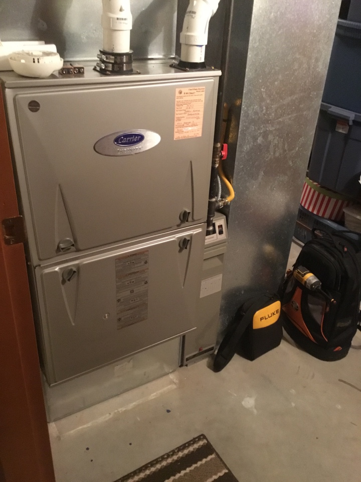 Anacortes, WA - Performed an annual service on a furnace in Anacortes Washington