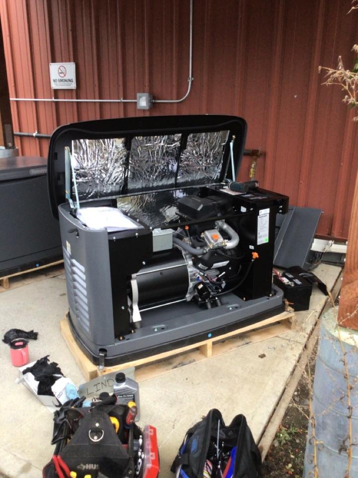Ferndale, WA - Generator break-in. Ferndale, WA