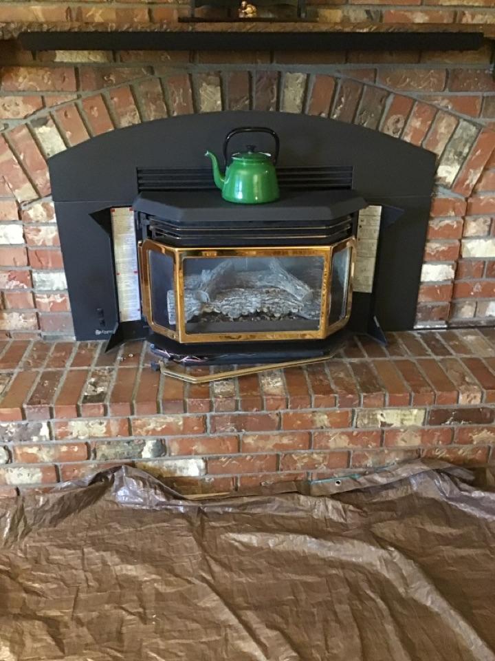 Oak Harbor, WA - Gas fireplace maintenance and testing. Oak Harbor, wa