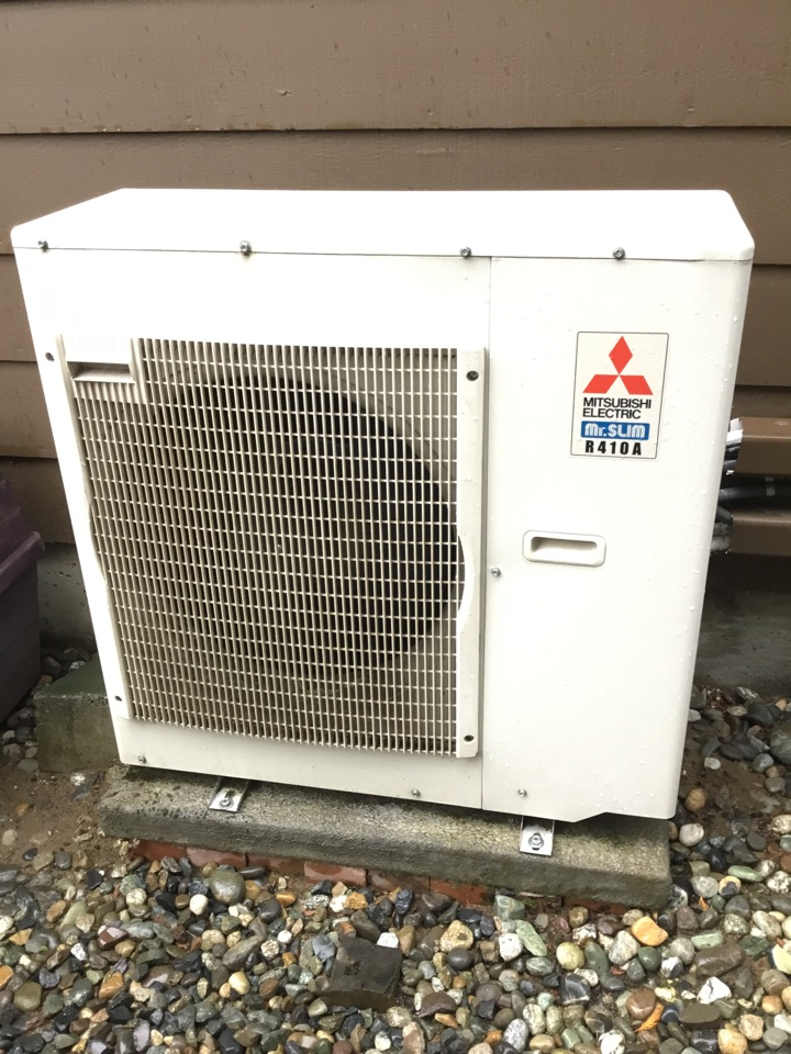 Marysville, WA - Performed annual maintenance on ductless heat pump and gas fireplace for a lady in Marysville Washington