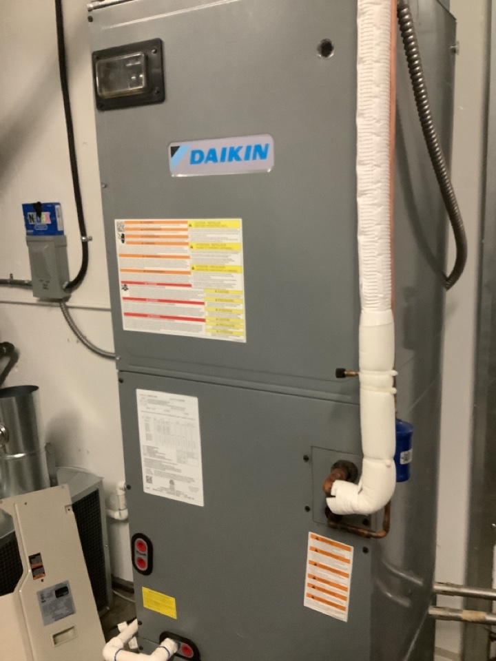 Ferndale, WA - Working on a electric furnace in the Barron Heating Technical School Ferndale, WA