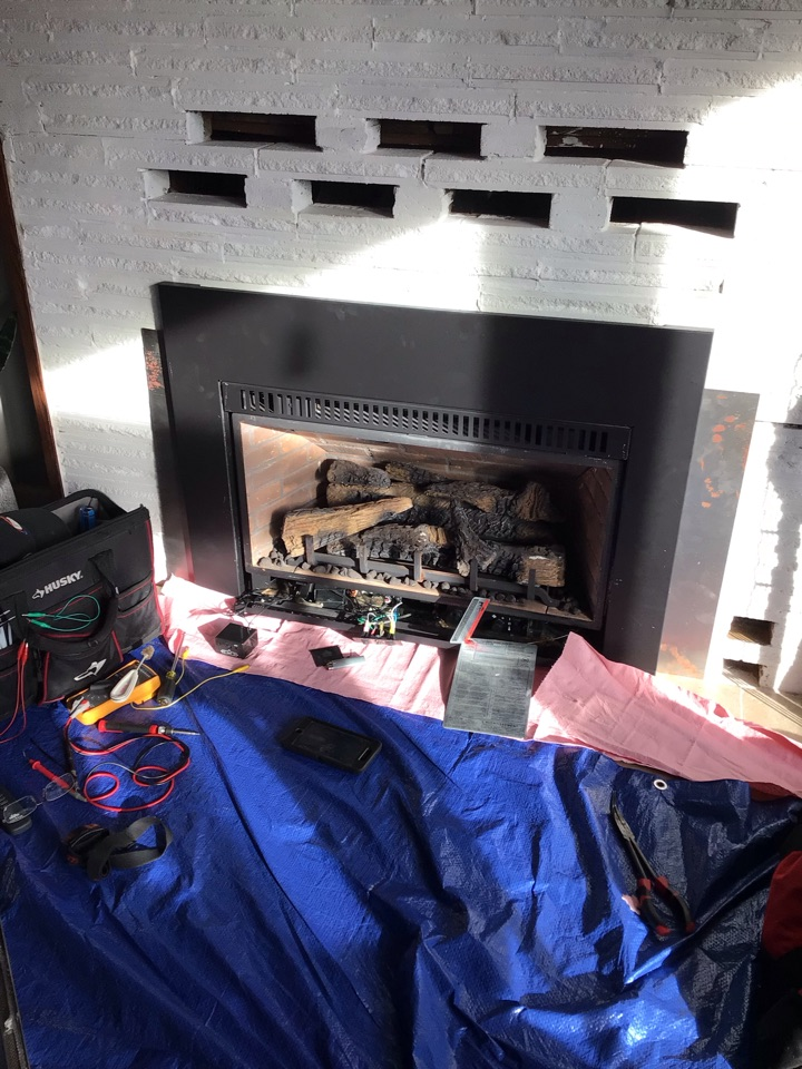 Friday Harbor, WA - Diagnostic test on the fireplace