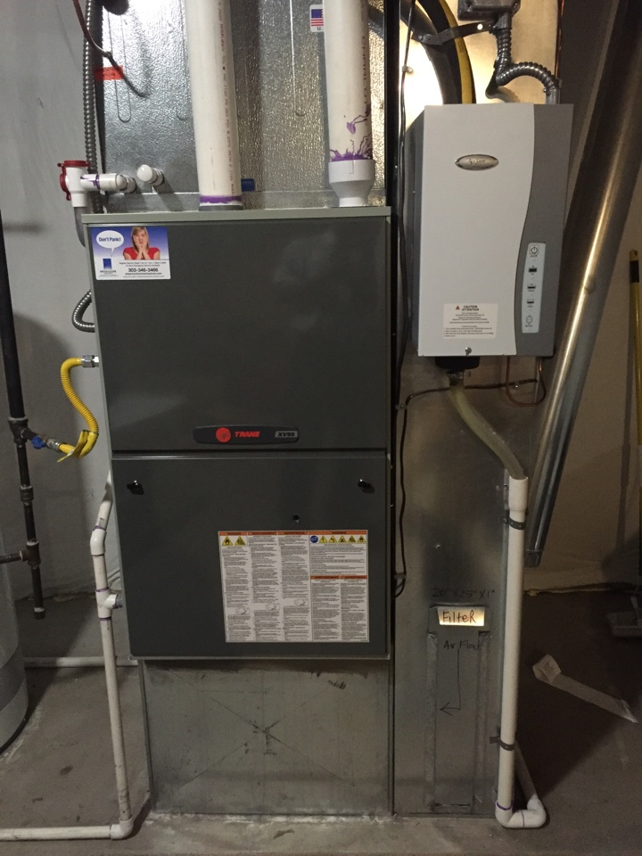 Denver, CO - Visiting an old friend ;).  I installed this furnace a little over 3 years ago and it's looking as good as the day I put it in....  Client just wanted a tune up.