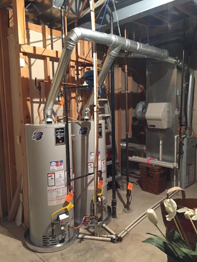 Greenwood Village, CO - Installed two new 50 gallon water heaters and a pressure reducing valve.